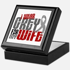 I Wear Grey For My Wife 6 Keepsake Box