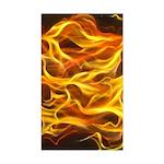 Red Flame Vertical E-Cig Skin