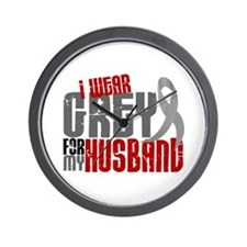 I Wear Grey For My Husband 6 Wall Clock