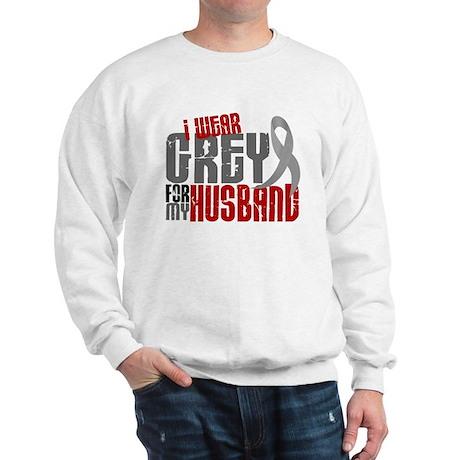 I Wear Grey For My Husband 6 Sweatshirt