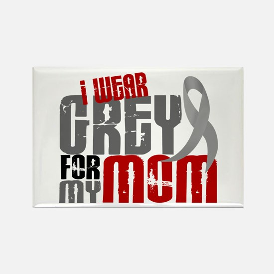 I Wear Grey For My Mom 6 Rectangle Magnet