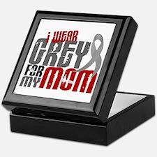 I Wear Grey For My Mom 6 Keepsake Box