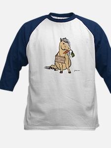 Funny Horse Kids Baseball Jersey