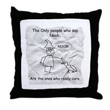 Just for Noobs Throw Pillow