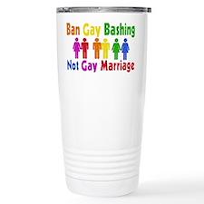 Ban Gay Bashing Travel Mug