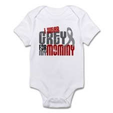 I Wear Grey For My Mommy 6 Infant Bodysuit