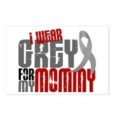 I Wear Grey For My Mommy 6 Postcards (Package of 8