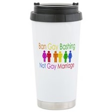 Ban Gay Bashing Travel Coffee Mug