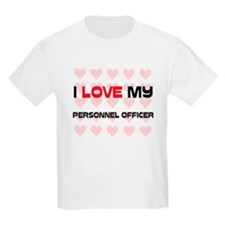 I Love My Personnel Officer T-Shirt