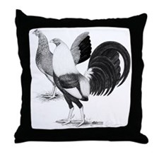 American Game Fowl Throw Pillow