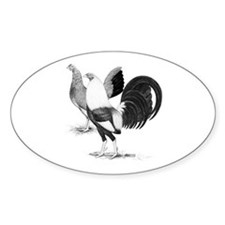 American Game Fowl Oval Decal