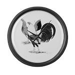 American Game Fowl Large Wall Clock