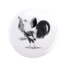 """American Game Fowl 3.5"""" Button (100 pack)"""