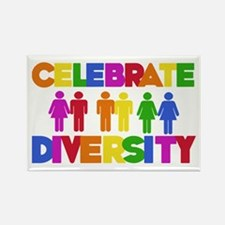 Celebrate Diversity Rectangle Magnet