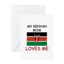 My Kenyan Mom Loves Me Greeting Card