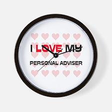 I Love My Personal Adviser Wall Clock