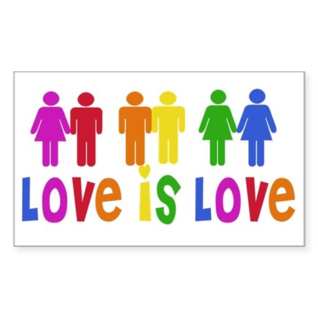 Love is Love Rectangle Sticker