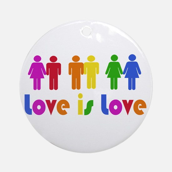Love is Love Ornament (Round)