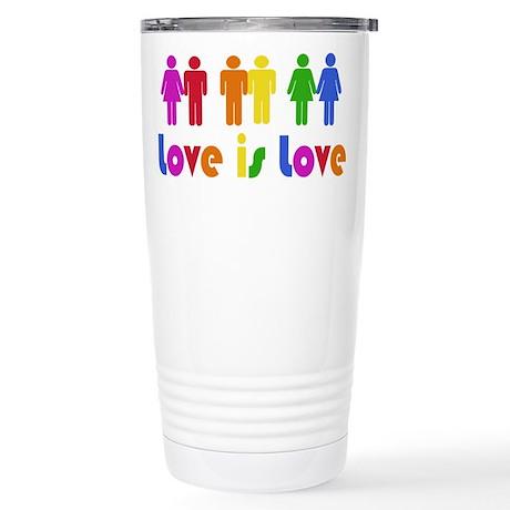 Love is Love Stainless Steel Travel Mug