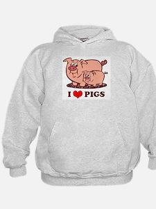 I Love Pigs Hoodie