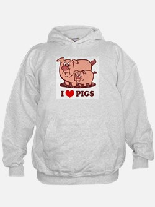 I Love Pigs Hoody
