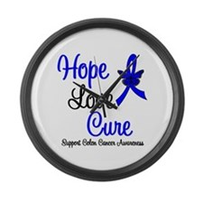 ColonCancer HopeLoveCure Large Wall Clock
