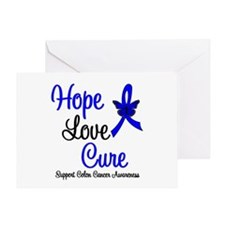 ColonCancer HopeLoveCure Greeting Card