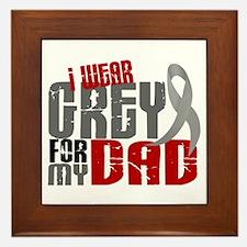 I Wear Grey For My Dad 6 Framed Tile