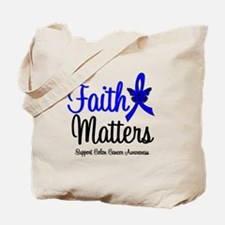 Colon Cancer Faith Matters Tote Bag