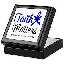 Colon Cancer Faith Matters Keepsake Box