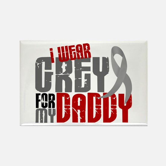 I Wear Grey For My Daddy 6 Rectangle Magnet