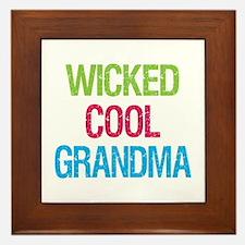 Unique Grandma mothers day Framed Tile