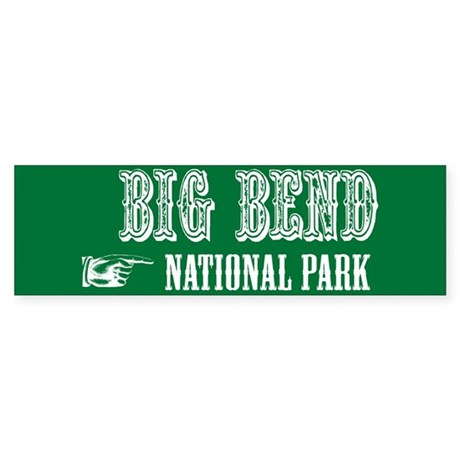 Big Bend Western Flair Bumper Sticker