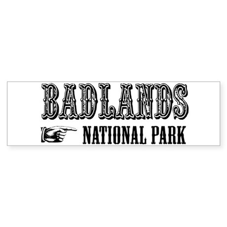 Badlands Western Flair Bumper Sticker