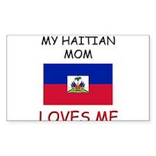 My Israeli Mom Loves Me Rectangle Decal