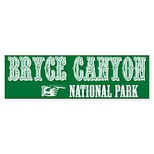 Bryce Canyon Western Flair Bumper Bumper Sticker