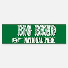 Big Bend Western Flair Bumper Bumper Bumper Sticker