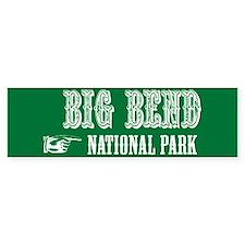 Big Bend Western Flair Bumper Bumper Sticker