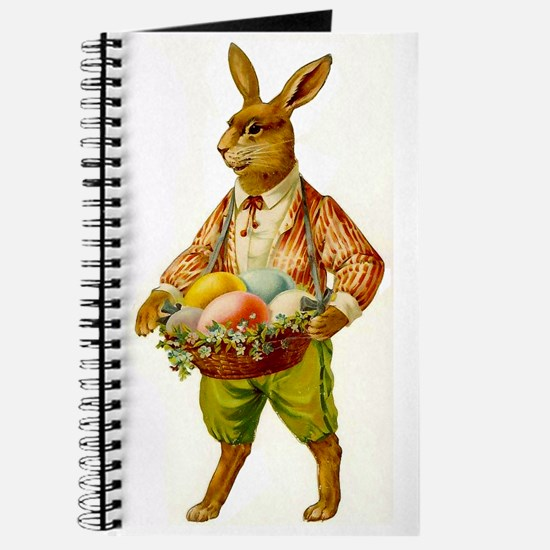 Antique Easter Bunny Journal Diary Blank Notebook