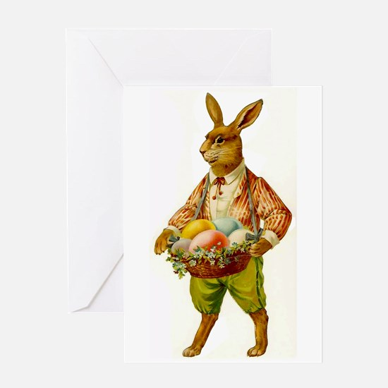 Antique Easter Bunny Greeting Card