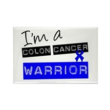 Colon Cancer Warrior Rectangle Magnet