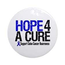 Colon Cancer Hope 4 a Cure Ornament (Round)