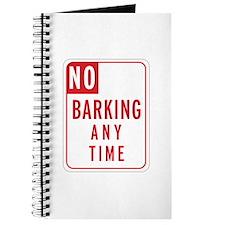 """No Barking"" Journal"