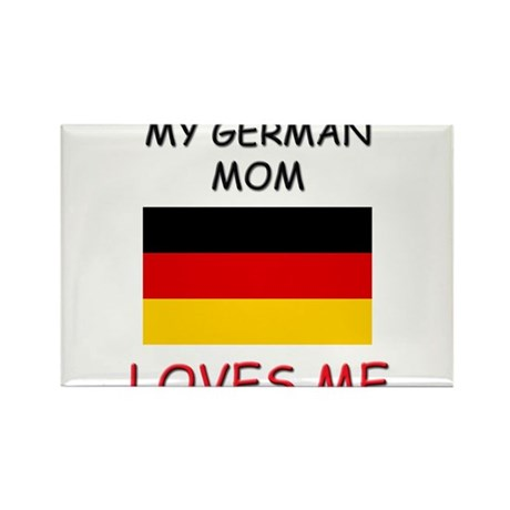 My German Mom Loves Me Rectangle Magnet