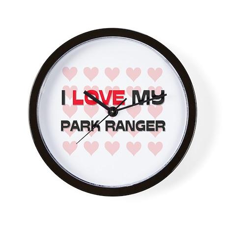 I Love My Park Ranger Wall Clock