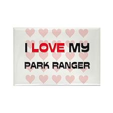 I Love My Park Ranger Rectangle Magnet