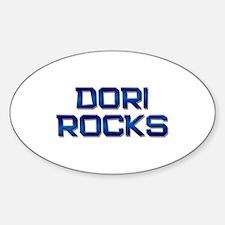 dori rocks Oval Decal