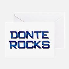donte rocks Greeting Card