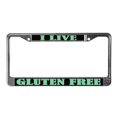 Gluten Free License Plate Frame