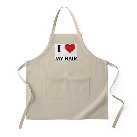 I Love My Hair BBQ Apron